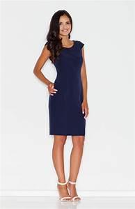 marine blue pencil dress flm378b idresstocode online With robe droite bleu marine