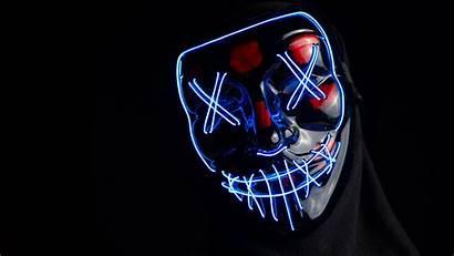 Led Mask Wallpapers 5k