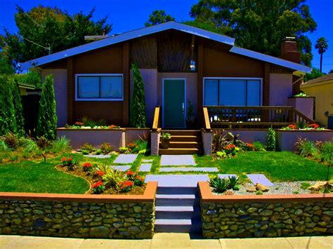 Modern Front Yard Mid Century Backyard Ideas Lighting A
