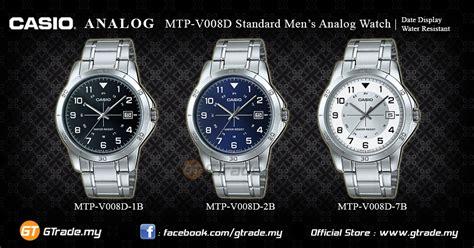 Casio Men Analog Watch Mtp-v008-d-l-b Steel/leather/cloth