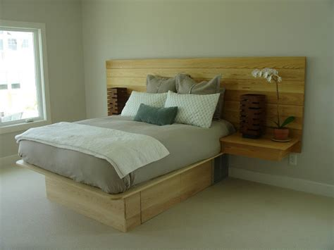 Platform Bed, Headboard-nightstand Combo
