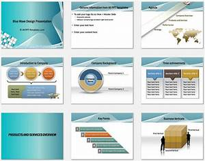 powerpoint blue wave intro template With company introduction presentation template