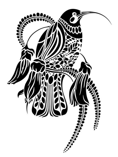 hummingbird vector maori art maori nz art