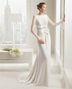 30 exquisite elegant long sleeved wedding dresses chic for No lace wedding dress