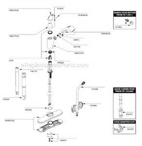 moen kitchen faucet repair diagram moen 7560csl parts list and diagram after 1 11 ereplacementparts
