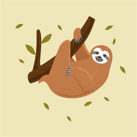 sloth vector illustration download free vector art