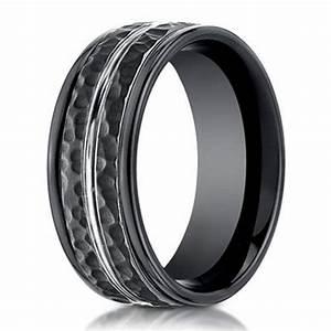 designer cobalt chrome ring for men hammered finish 8mm With cobalt chrome men s wedding rings