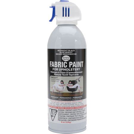 Upholstery Fabric Paint Walmart by Upholstery Spray Fabric Paint 8oz Midnight Black Walmart