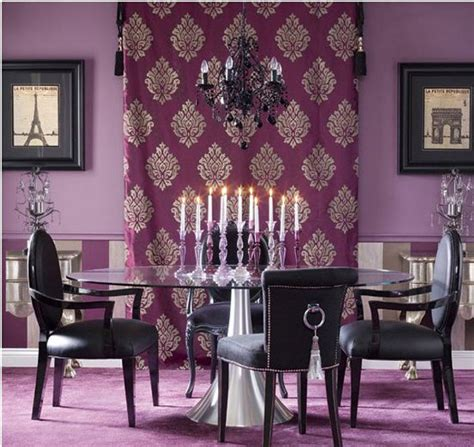 15 Purple Dining Room Ideas  Home Design Lover