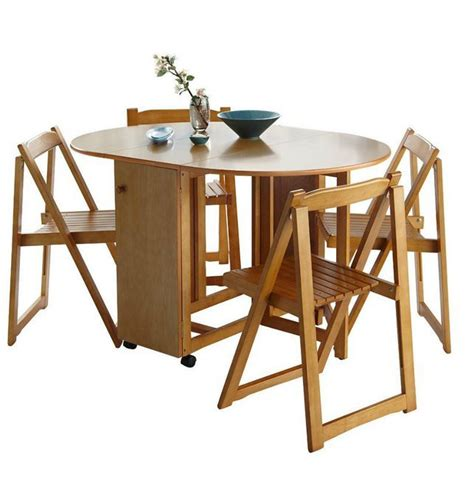 lewis butterfly folding dining table and four chairs