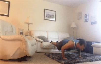 Living Workout Decline Reverse Push Position Active