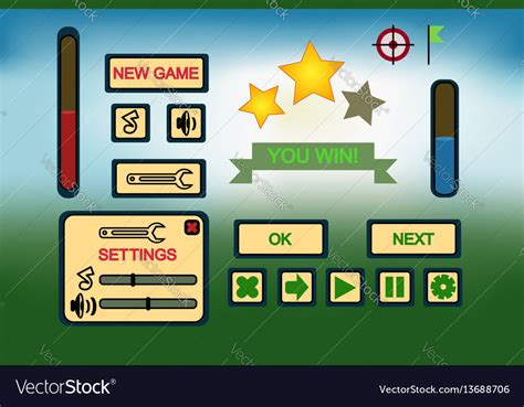 Game Ui Elements Free Vector By Llenella