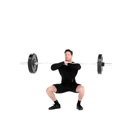 crossed arm barbell front squat video watch proper form
