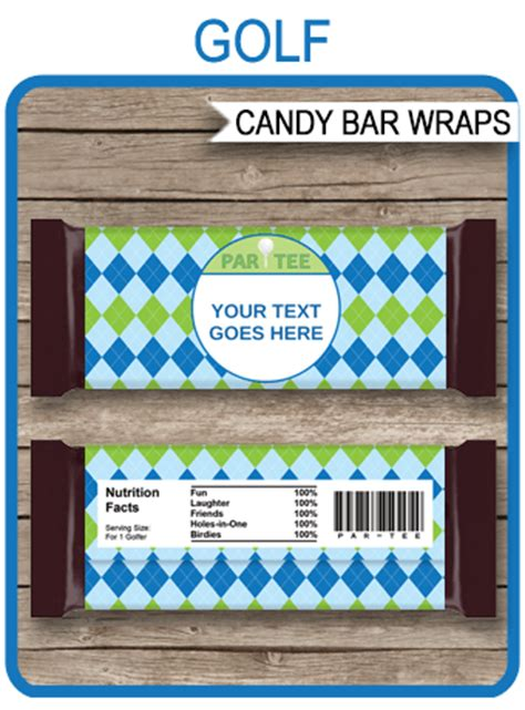 golf hershey candy bar wrappers personalized candy bars