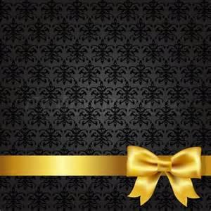 fabric ribbon black damask background stock vector colourbox