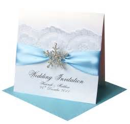 winter wedding invitations snowflake made