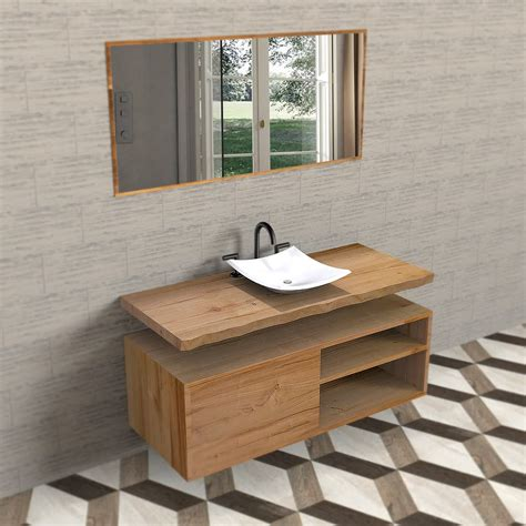 dimensioni mobile bagno mobile bagno in legno massello di castagno con mensola sospeso