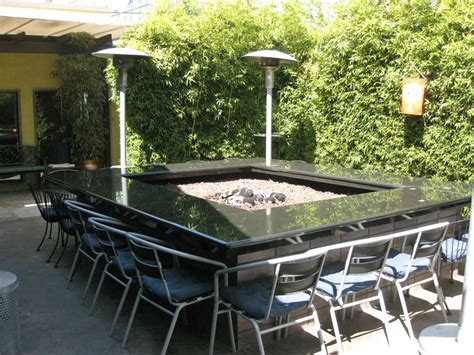patio table with pit pit design ideas