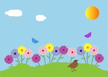Clipart Garden Summer Clipground Bird