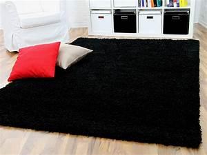 Hochflor Teppich Schwarz : hochflor langflor shaggy teppich aloha schwarz teppiche hochflor langflor teppiche schwarz grau ~ Indierocktalk.com Haus und Dekorationen