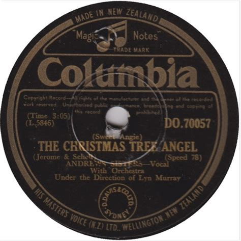 andrews sisters sweet angie the christmas tree angel