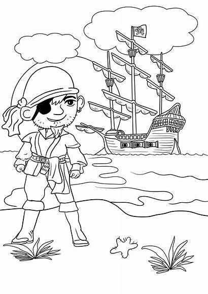Pirate Colouring Coloring Pages Printable Pirates Ships
