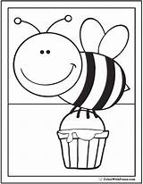 Bee Coloring Pages Honey Flowers Flower Queen Printable Hives Getdrawings Cute Print Getcolorings Drawing Colorwithfuzzy sketch template