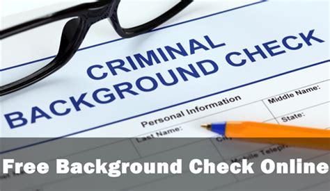 how to do a background check for free how to do a free background check