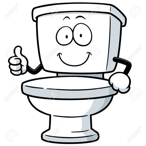 Toilet Clipart Funny  Pencil And In Color Toilet Clipart