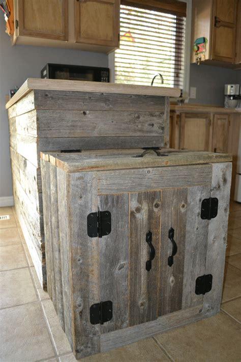 poubelle en bois cuisine meuble cache poubelle cuisine mon appart mini espaces