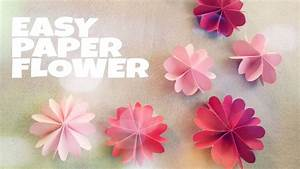 DIY Room Decoration with Paper Flower - YouTube