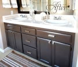 painting bathroom vanity ideas budget bathroom makeover linky centsational