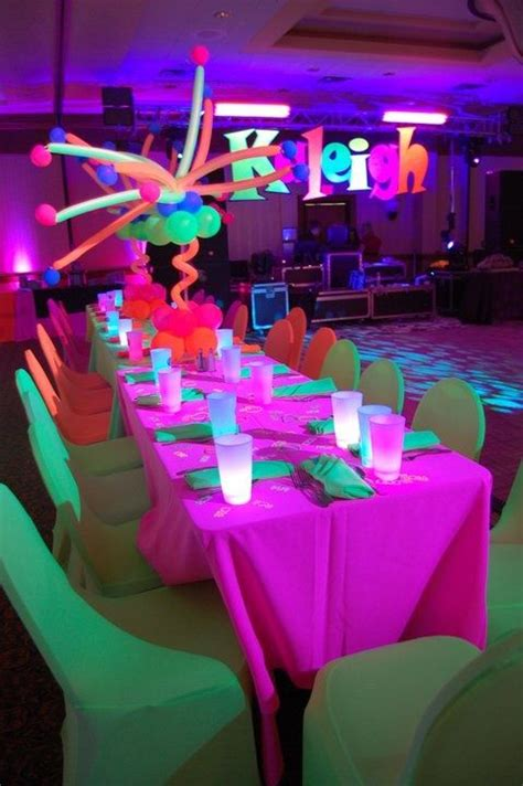 glow in the table setting glow in the