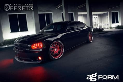 wheel offset  dodge charger dropped  custom rims