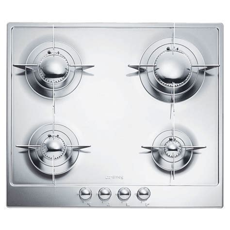 SMEG GAS HOB P64ES POLISHED STAINLESS STEEL 60 CM PIANO