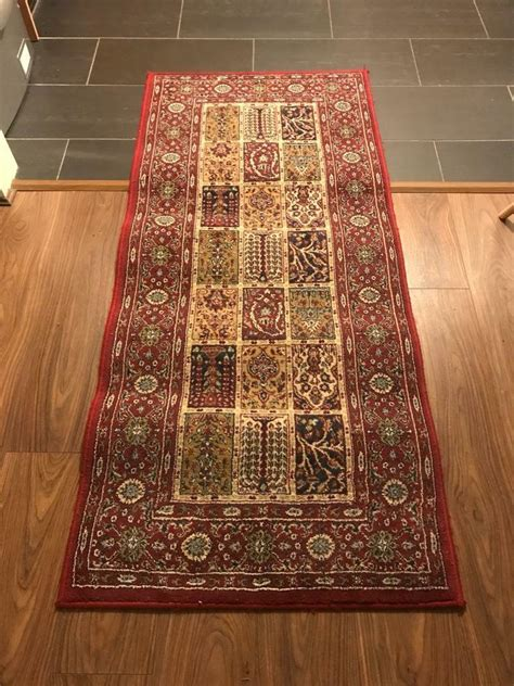 ikea rug valby ruta red persian runner pattern cm