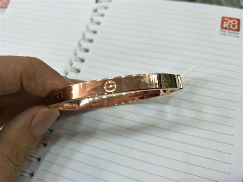 Misal bewarna putih atau rose gold? Jual gelang emas asli kadar 750 warna rose gold di lapak ...