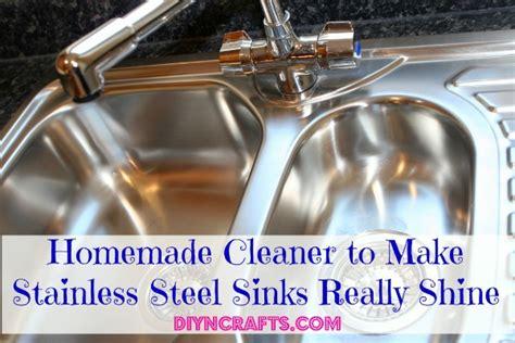homemade cleaner   stainless steel sinks