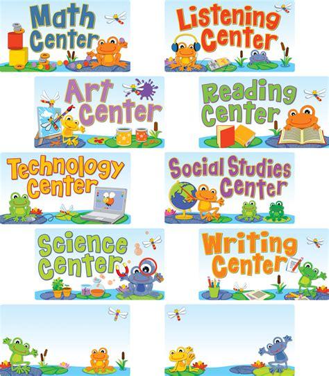 funky frogs center signs mini bulletin board set grade pk 341 | 110268