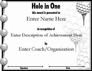 printable golf gift certificate template quotes quotes With free hole in one certificate template