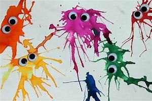Malen Mit Kindern : basteln mit kindern wasserfarbenmonster handmade kultur ~ Orissabook.com Haus und Dekorationen