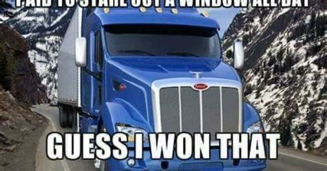 paid  stare   window truckers meme pinterest