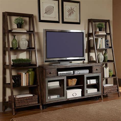 living room bookshelves and cabinets avignon five shelf ladder bookcase 72 quot h home
