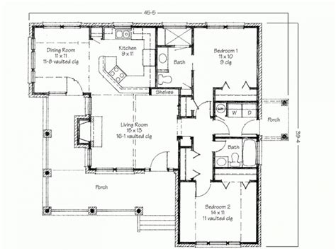 two bedroom house simple floor plans house plans 2 bedroom