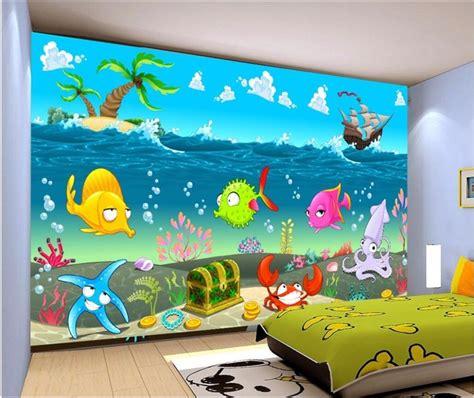 custom mural photo  room wallpaper cartoon sea world