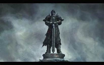 Knight Sword Medieval Warrior Stone Wallpapers Statue