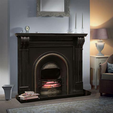 Black Fireplace - dublin corbel fireplace in black marble marble