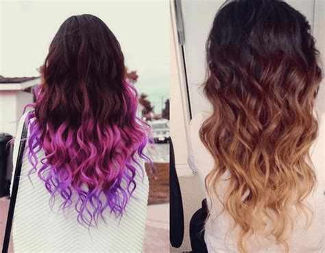 Colored Hair Ideas by Hair Color Ideas For Black Bleached Hair Dip Dyed