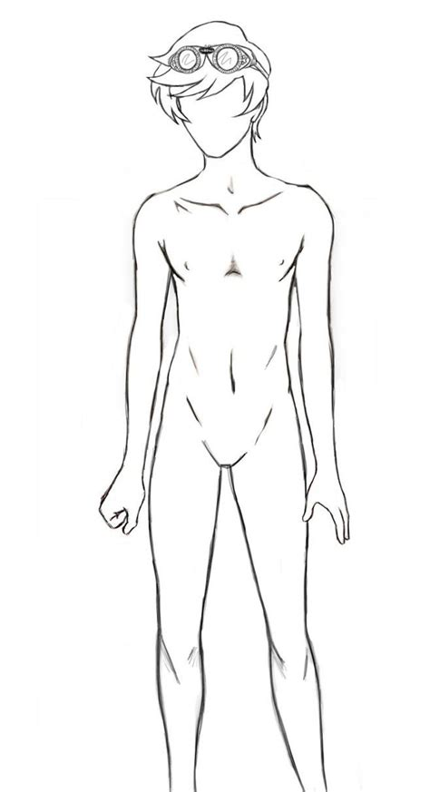 Full Body Anime Guy Template Body Outline By Seventyeyes