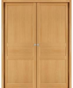 double porte coulissante selve bois exotique massif teinte With porte de garage et porte interieur hetre massif